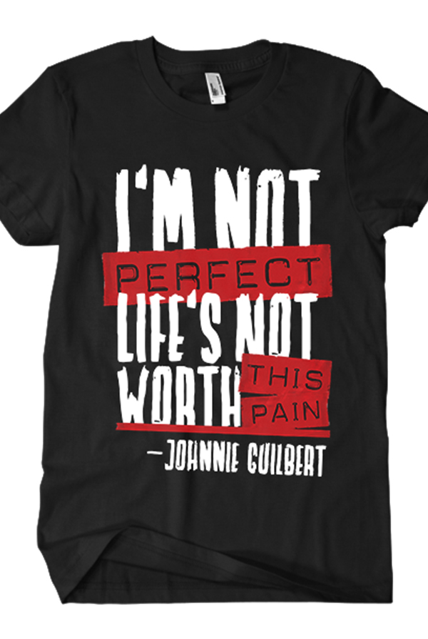 I 39 m not perfect tee black t shirt johnnie guilbert t for Perfect black t shirt