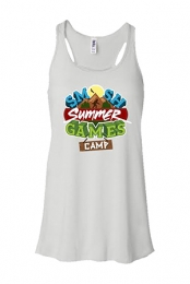 Summer Games Girls Racerback Tank (White)
