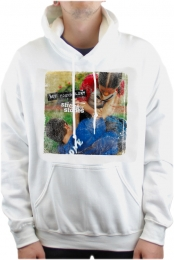 Sticks & Stones Pullover Hoodie (White)