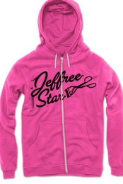 Deep Pink Queen Bitch Hoodie (with Silver Foil) Jeffree Star