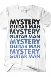 Mystery Guitar Man (Blue on White)