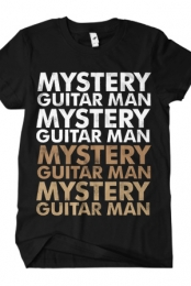 Mystery Guitar Man (Brown on Black)
