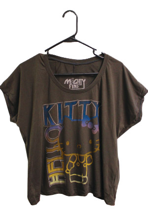 Hello kitty cropped tee t shirt hello kitty t shirts for Hello kitty t shirt design