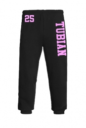 Tubian Sweatpants (Black and Pink)