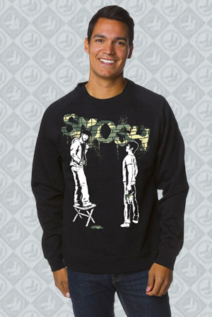 Camo Green Graffiti Crewneck Sweatshirt