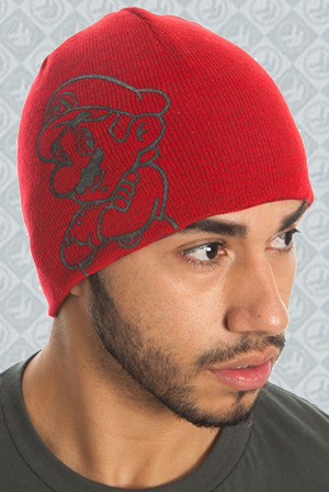 Nintendo Mario Red Reversible Knit Beanie