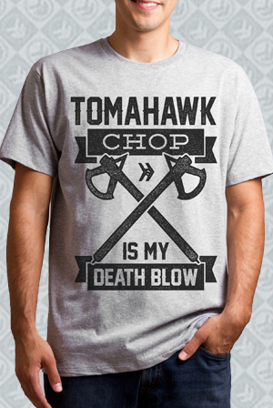 Death Blow Heather Grey Tee