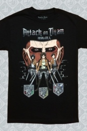 Attack On Titan Characters Tee