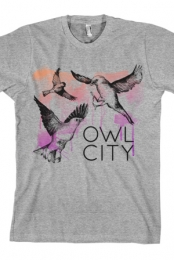 Birds Tee (Heather Grey)
