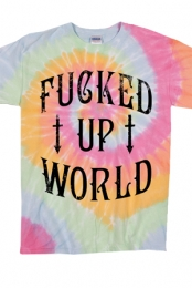 Fucked Up World Aerial Tie Dye Tee