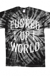 Fucked Up World Black Tie Dye Tee