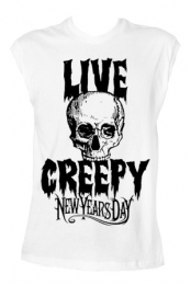 Live Creepy Unisex Tank (White)