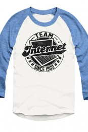 #TeamInternet Raglan (Light Blue)