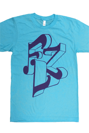 Flz Unisex Tee Turquoise T Shirt The Floozies T Shirts