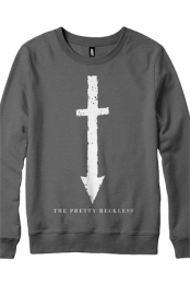 Arrow Cross Crewneck Sweatshirt (Charcoal)