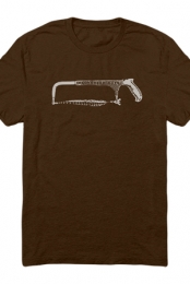Hackensaw Logo Tee (Dark Chocolate)