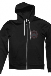 Cathedral Zip Up Hoodie (Black)