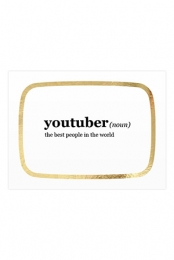 Signed YouTuber 18x24 Poster (Gold Foil Outline)