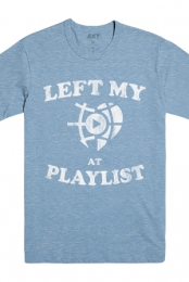 Left My Heart Tee (Athletic Heather Blue)