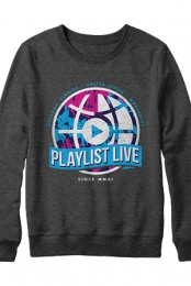 Worldwide Crewneck Sweatshirt (Heather Charcoal)