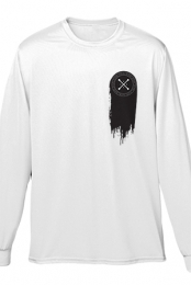 Paint Me Black Longsleeve Tee (White)