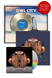 Mobile Orchestra CD + Ocean Eyes Platinum US Plaque + 12x12 Signed Navy Triangle Poster