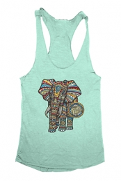 Elephant Girls Racerback Tank (Mint)
