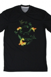 Burning Artist Floral Logo Tee (Black)