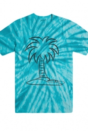 Tie-Dye Palm Tree Tee