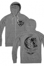 Miserable Hoodie (Gunmetal Heather)