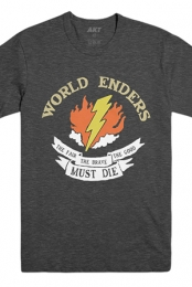 World Enders Tour Tee (Heather Charcoal)