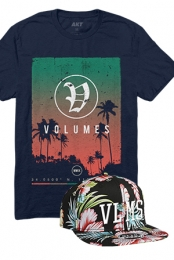 Palms Tee + VLMS Floral Snapback