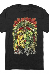 Rasta Headdress Tee (Black)