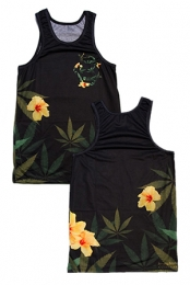 Burning Artist Floral Tank (Black)