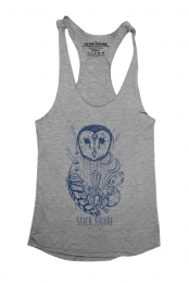 Owl Girls Tank (Heather Grey)