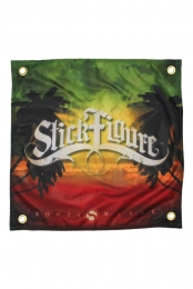 Rasta Palm Tree Flag (18x18)