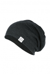 Open Slouch Beanie (Charcoal)