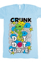 Crunk V-Neck (light blue)