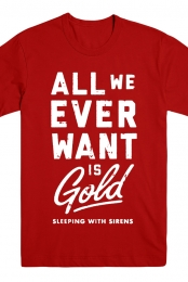 Gold Tee (Red)