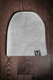 Deep V Beanie (Heather Grey)