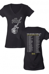 Guitar V-Neck Women's Tee (Black)