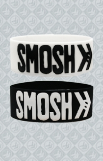 SMOSH Logo Wristband Package (White and Black)