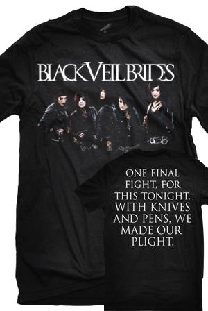 Group Skyline T Shirt Black Veil Brides T Shirts