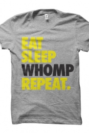 Eat Sleep Whomp (Heather Grey)