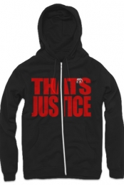 That�s Justice Zip Up Hoodie (Black)