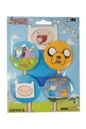 Adventure Time 4 Button Pack