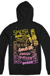 Smosh Gradient Zip Up Hoodie (Black)
