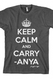 Keep Calm and Carry-Anya (Heather Charcoal)