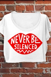 Never Be Silenced Crop Top