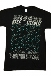 I Love You It's Cool Tee (Teal on Black)